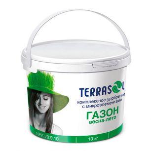 Удобрение сухое Террасол минеральное для Газона весна-лето с микроэлементами ведро 10 кг. - все для сада, дома и огорода!