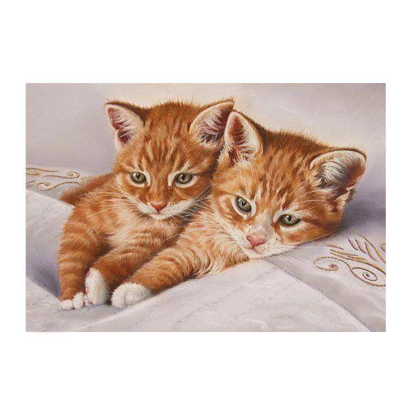 Картина по номерам Набор юного художника.Рыжие котята 20*30см