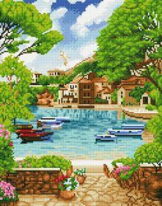 Алмазная мозаика «Бухта счастья» 40x50 см
