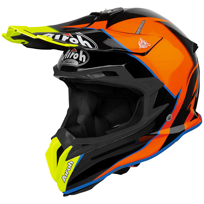 Airoh Terminator Open Vision Slider Azure Gloss шлем внедорожный