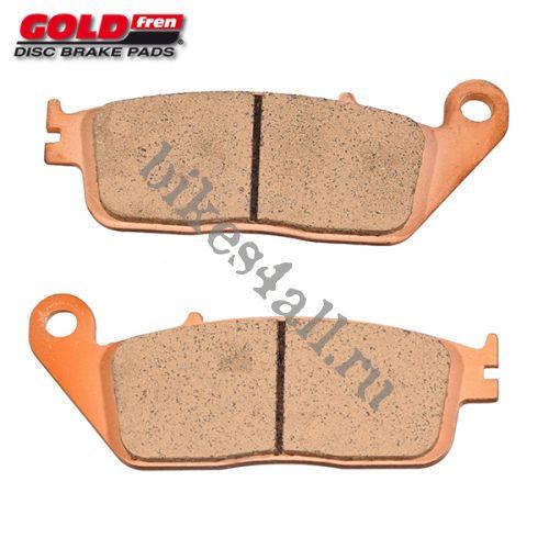 Колодки тормозные GOLDfren для Honda CB-1 / CB400 92-94 / VRX400 / CB500 / VTR250 / VF750 / VT750 / VFR750 / VFR950 / CBR1000