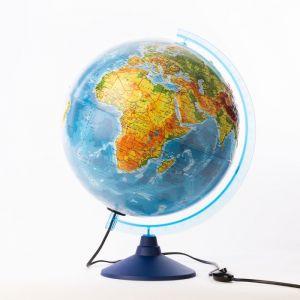 Глoбус физический рельефный «Классик Евро», диаметр 320 мм, с подсветкой