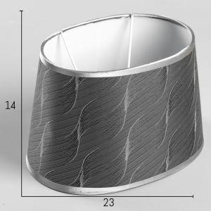 Абажур Е14 серебристый 16,5х23 см   4415791