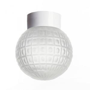 """Светильник настенно-потолочный """"Гранат"""" прямой 1 лампа Е27 60W матовый,белый 15х15   2588631"""