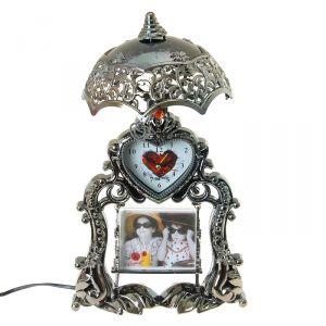 """Часы-светильник """"Виктория"""" с фоторамкой, настольные, 35х20 см 916994"""