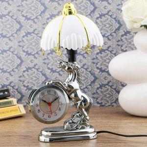 """Часы-светильник """"Мустанг"""", с будильником, 27х12 см   4523818"""