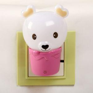 """Ночник """"Мишка в корзине"""" 1Вт МИКС 6х6х10 см.   4301204"""