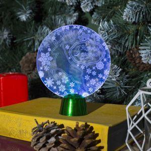 """Подставка световая """"Олень"""", 13.5х11 см, 1 LED, батарейки в комплекте, RGB 2446489"""
