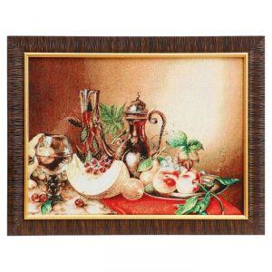 "Картина из гобелена ""Натюрморт с дыней"", 35х45 см"
