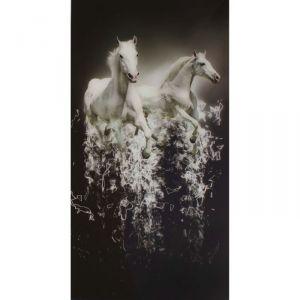 "Картина на стекле ""Белые лошади"""