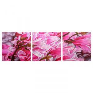 """Модульная картина """"Цветы магнолии"""" (3-35х35) 35х105 см 4983641"""