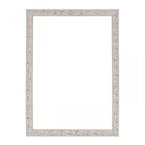 Рама для зеркал и картин из дерева, 50 х 70 х 4 см, цвет бело-золотой