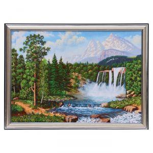 """Картина """"Водопад в лесу"""" 25х35 см (28х38см)  4832460"""