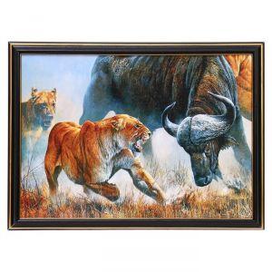 """Картина """"Львица на охоте"""" 25х35 см (28х38см)  4832493"""