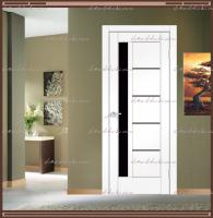 Межкомнатная дверь PREMIER 3 SoftTouch структурный Ясень белый, стекло - ЛАКОБЕЛЬ Чёрное :