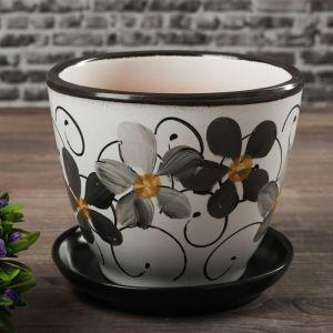 Горшок цветочный Фиалка дневная 1л с подставкой 164801