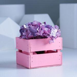 Ящик реечный нежно-розовый, 11 х 12 х 9 см   3293069