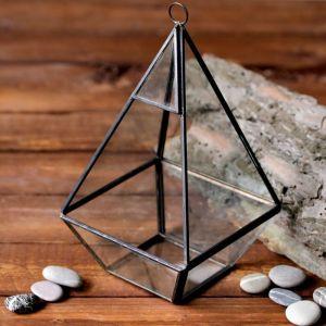 "Флорариум ""Пирамида"", чёрный каркас"