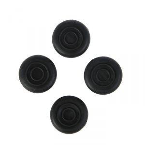 Накладка мебельная круглая TUNDRA, D=20 мм, 4 шт., черная 3609879