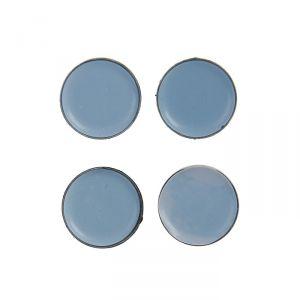 Накладка мебельная круглая TUNDRA, D=30 мм, 4 шт., полимерная, цвет серый 3609881