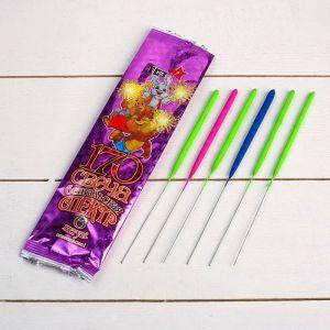 """Набор бенгальских свечей """"Спектр"""", разноцветные, 17 см, в упаковке 6 шт   4483413"""