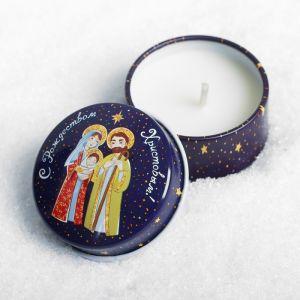 Свеча в баночке «С Рождеством Христовым!»