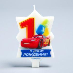 """Свеча в торт Дисней 1 """"С Днем Рождения"""", Тачки"""