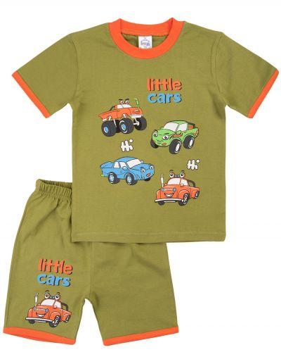 "Костюм для мальчика Bonito kids ""Машинки"" хаки"