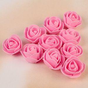Набор цветов для декора из фоамирана, D=3 см, 10 шт, розовый 2976281
