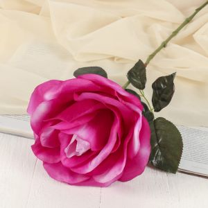 """Цветок искусственный """"Роза"""" бутон, 21*60 см, сиреневый с белым   3534222"""