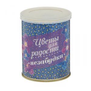 """Растущая травка в банке """"Цветы для радости"""" незабудки 2099129"""