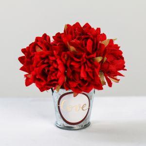 Цветочный комплимент «Любовь дарит счастье», 5 ? 7 ? 5 см