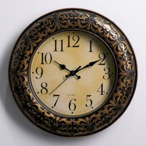 """Часы настенные, серия: Классика, """"Космея"""", чёрные, 30х30 см 3565202"""