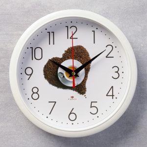"""Часы настенные круглые """"Кофе"""", 22х22 см микс 2267835"""