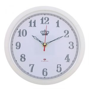 "Часы настенные круглые ""Корона"", 22 см, обод белый   2918886"