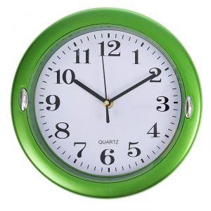 Часы настенные, серия: Классика, круглые, рама вставки хромированные, микс, d=23.5 см 1588303