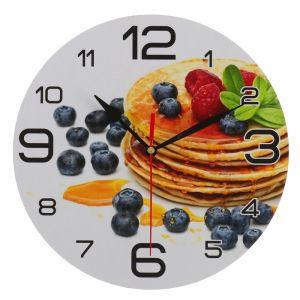 """Часы настенные, серия: Кухня, """"Панкейк с черникой"""", 24 см 3571411"""