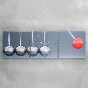Часы настенные модульные «Шарики», 35 ? 110 см