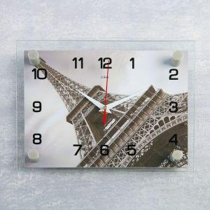 """Часы настенные, серия: Город, """"Эйфелева башня"""", 20х26  см, микс 1377024"""