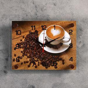 """Часы настенные, серия: Кухня, """"Кофе"""", 20х26  см, микс 2267876"""