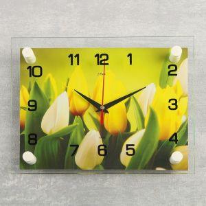 """Часы настенные, серия: Цветы, """"Тюльпаны"""", 20х26 см  микс 3979109"""