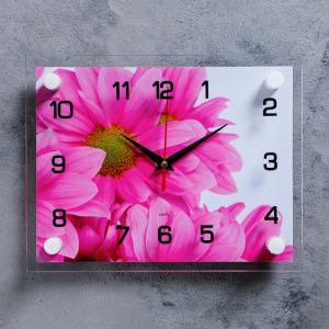 "Часы настенные, серия: Цветы, ""Цветок"", 20х26  см, микс 2267869"