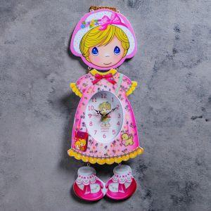 """Часы настенные, серия: Детские, """"Девочка в панамке"""" 16х42 см 837745"""