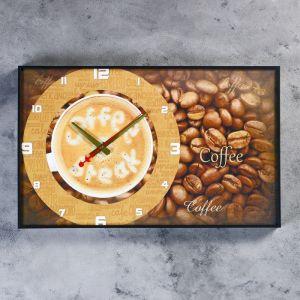 """Часы настенные, серия: Кухня, """"Чашка кофе"""", 37х61 см 4836943"""