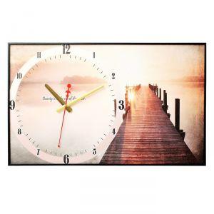 """Часы настенные, серия: Природа, """"Пирс на озере"""", 37х60  см, микс 1301254"""