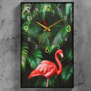 """Часы настенные, серия: Природа, """"Фламинго"""", 37х60 см 4812331"""