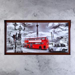 """Часы-картина настенные, серия: Город, """"Лондонский даблдекер"""", 50х100  см, микс 1210543"""