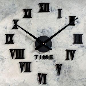 """Часы-наклейка DIY """"Лорье"""", чёрные, 120 см 2366733"""