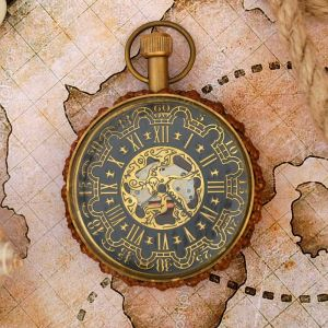 "Часы кварцевые латунь ""Королевство"" 5,5х5,5х8 см   3403768"