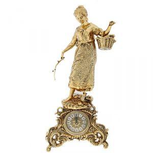 """Часы каминные """"Дама с корзинкой"""""""